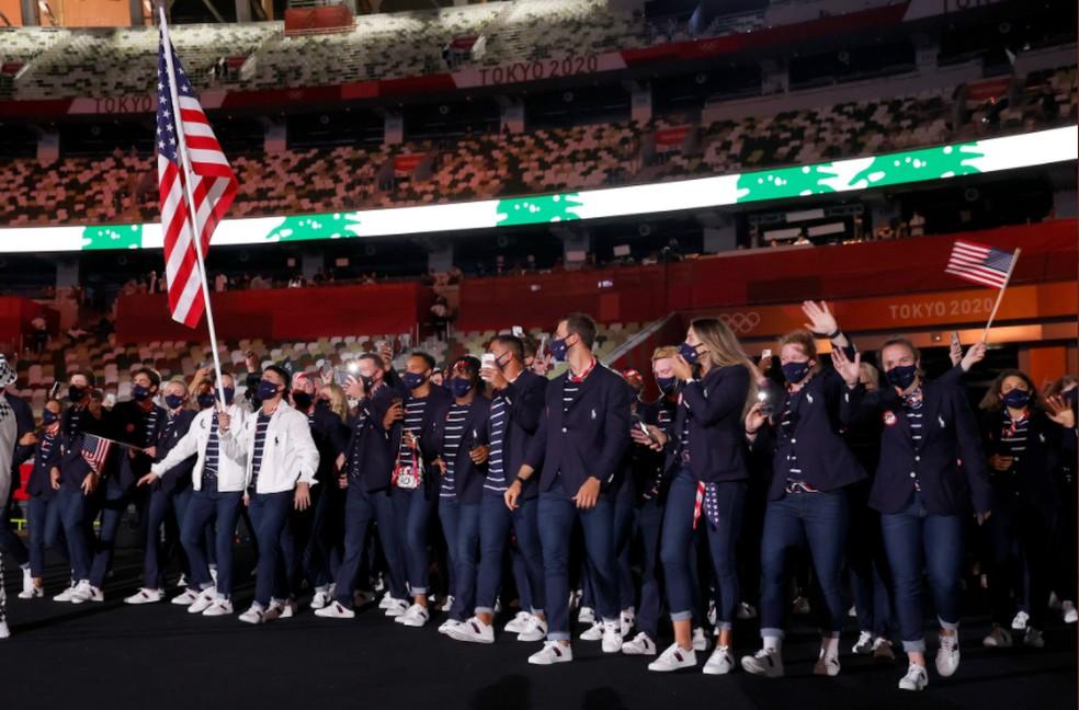 Delegação americana — Foto: @olympic