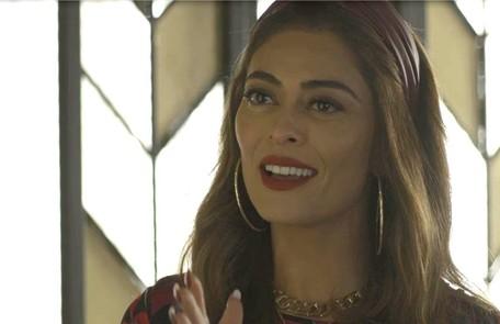 Na segunda-feira (5), Maria da Paz (Juliana Paes) dará uma surra em Jô (Agatha Moreira) depois de descobrir que ela lhe roubou Reprodução