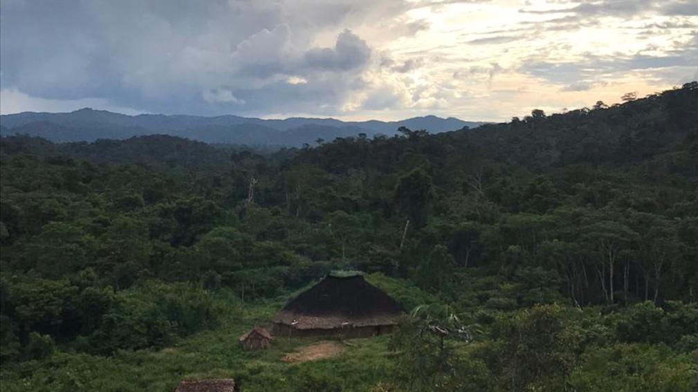 Região de Surucucu, onde ficam as comunidades Waphuta e Kataroa, fica no meio da floresta amazônica, em área de difícil acesso — Foto: Júnior Hekurari Yanomami/Condisi-YY/Divugação