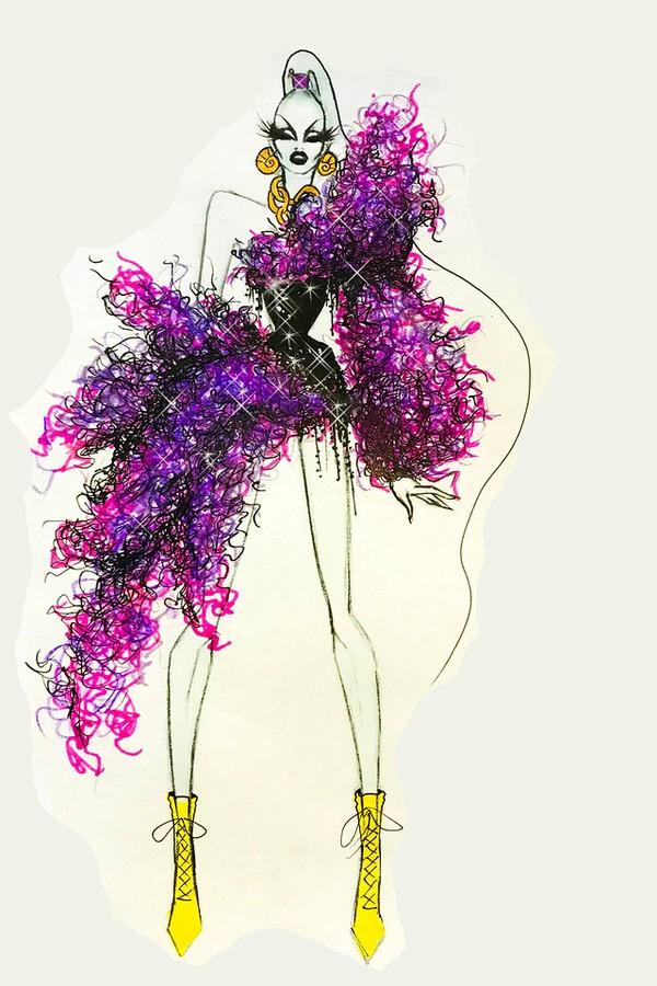 The Blonds apresenta 'Vilões da Disney' durante a New York Fashion Week (Foto: Divulgação)