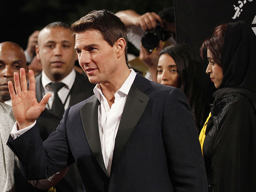 Tom Cruise chega a Dubai (Foto: Jumana El Heloueh/Reuters)