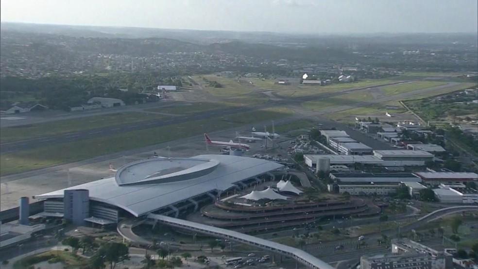 Aeroporto Internacional do Recife — Foto: Reprodução/TV Globo