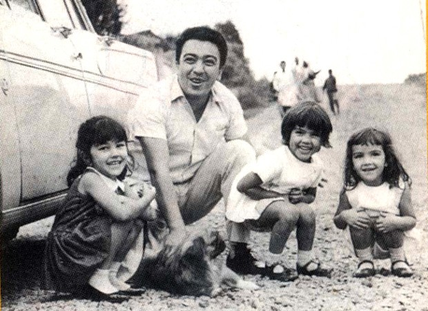 Maurício de Sousa com as filhas Mariângela, Mônica e Magali na década de 1960 (Foto: Divulgação/MSP)