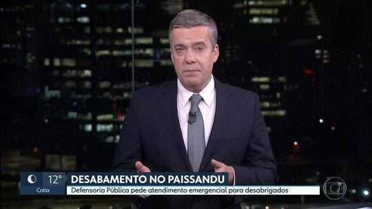 Defensoria Pública pede atendimento emergencial às vítimas de prédio que desabou em SP