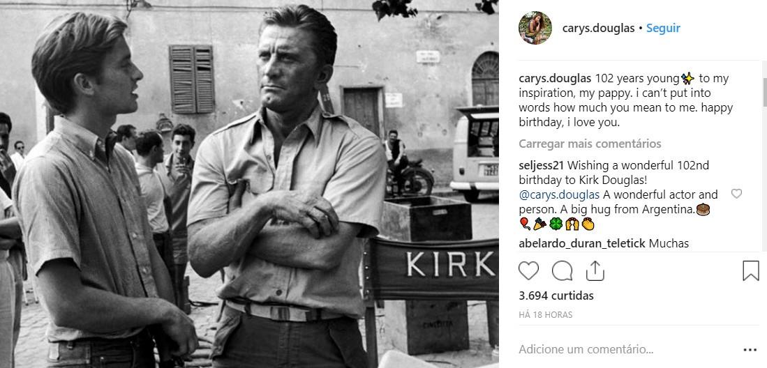 Kirk Douglas (Foto: Instageam)