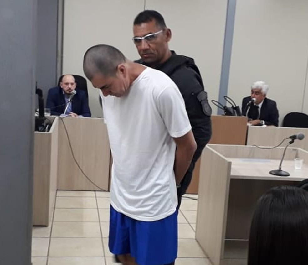Durante a audiência de instrução, na qual foi sentenciado a ir a júri popular, Marcondes se recusou a comentar as acusações — Foto: Klênyo Galvão/Inter TV Cabugi