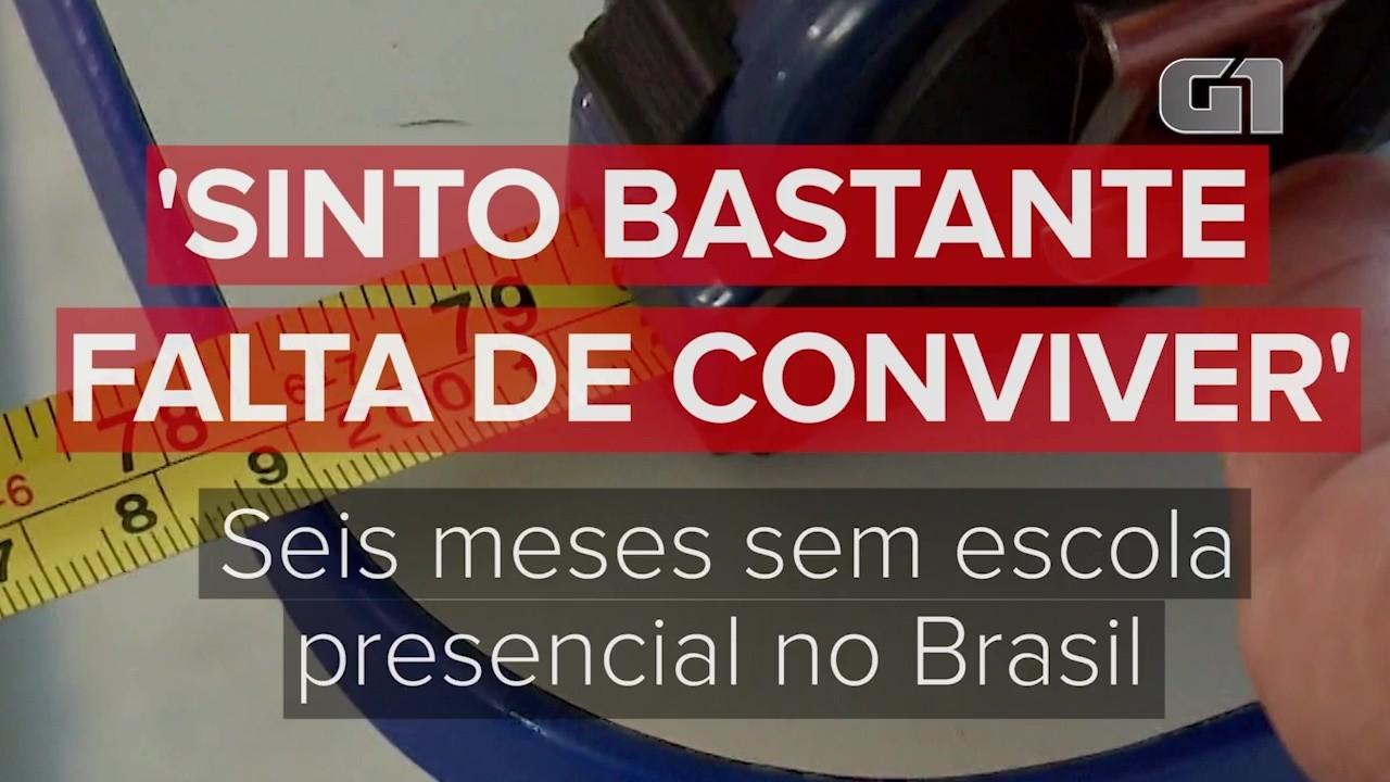 Alunos, pais e professores em cidades do Brasil relatam como tem sido os 6 meses sem aula