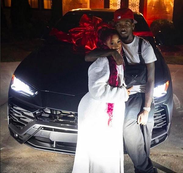 A rapper Cardi B com o rapper Offset (Foto: Instagram)