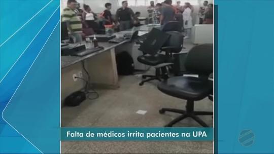 Paciente quebra computadores de UPA em Cuiabá e é detida