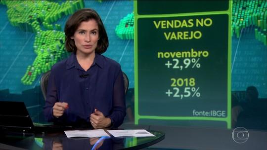 Vendas no comércio sobem 2,9% em novembro após duas quedas seguidas