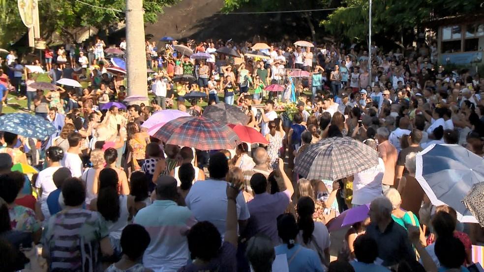 Começam as comemorações da Festa da Penha, no ES  — Foto: Paulo Cordeiro/ TV Gazeta