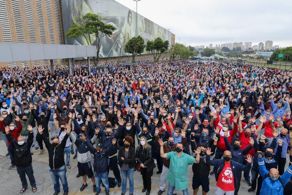 Trabalhadores da Volkswagen aprovam acordo para manter empregos por 5 anos — Foto: Divulgação/Sindicato dos Metalúrgicos do ABC