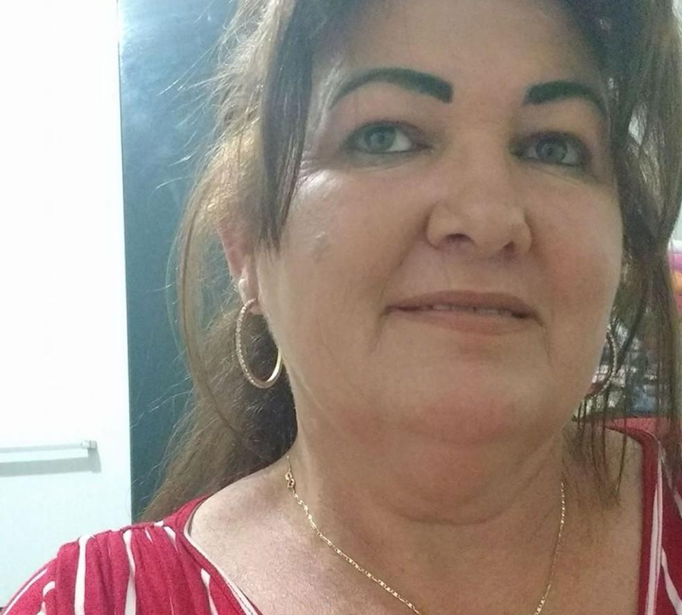 Rosineide Maria de Souza, de 45 anos, que estava desaparecida e foi encontrada morta no Rio Vermelho, em Rondonópolis (Foto: Facebook/Reprodução)