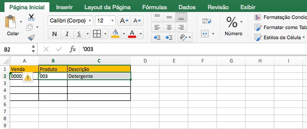 Fórmula Excel: tabela exibe a informação encontrada pela função PROCV — Foto: Reprodução/Edivaldo Brito