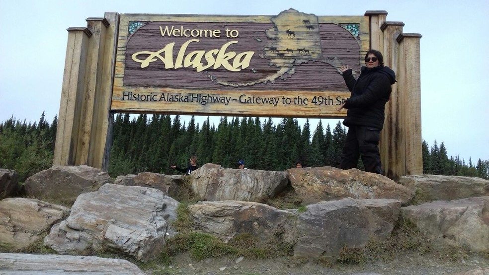 A rota de Gean, inicialmente, terminaria no Alasca, nos Estados Unidos (Foto: Divulgação/Facebook)