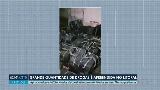 Bope apreende 3,3 toneladas de cocaína no litoral do Paraná