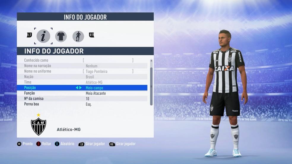 FIFA 19 traz apenas 15 times brasileiros e com jogadores genéricos — Foto: Reprodução/Murilo Molina
