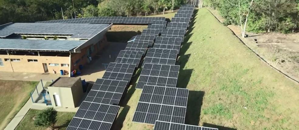 Mogi Mirim inaugurou estação de tratamento com energia solar — Foto: Reprodução/EPTV
