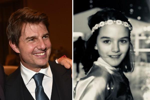 O ator Tom Cruise e sua filha, Suri (Foto: Getty Images/Instagram)