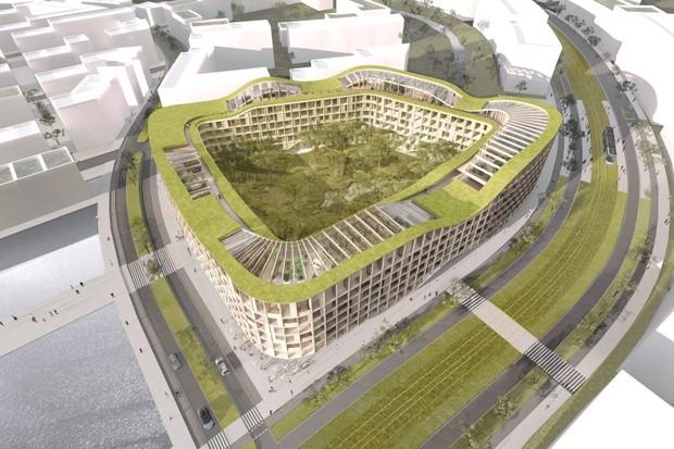 Maior edifício de madeira da Islândia será construído sobre aterro sanitário (Foto: Divulgação)