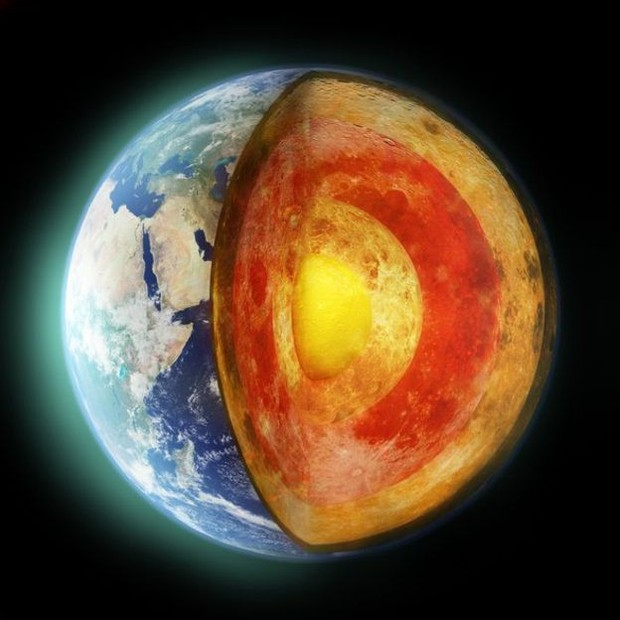 A crosta da Terra flutua sobre o magma (Foto: Getty Images via BBC)