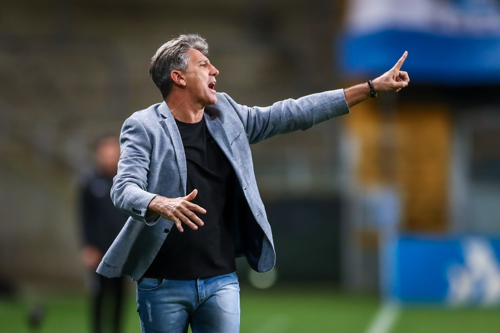 Renato Portaluppi em Grêmio 2x1 Bragantino — Foto: Lucas Uebel/DVG/Grêmio