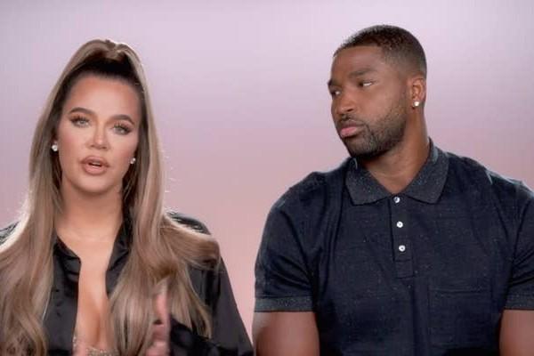 Khloé Kardashian e Tristan Thompson no reality show Keeping Up with the Kardashians (Foto: reprodução)