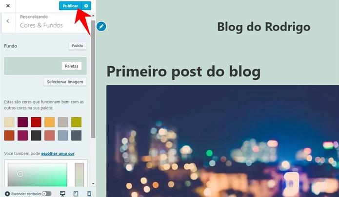 Mude a cor de fundo do seu site no WordPress (Foto: Reprodução/Rodrigo Fernandes)
