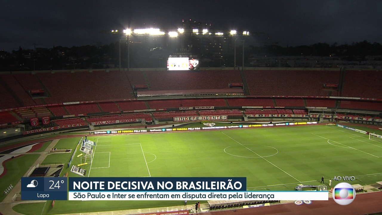 São Paulo e Internacional disputam a liderança do Brasileirão