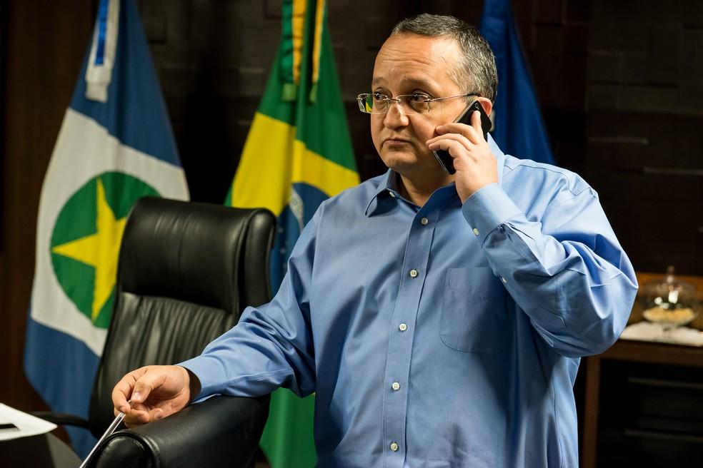 Pedro Taques (PSDB) prestou depoimento ao MPE — Foto:  José Medeiros/Scom MT