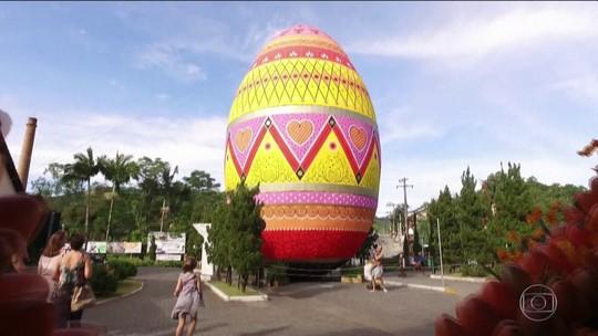 Em Pomerode (SC), tradição da Páscoa bate novo recorde