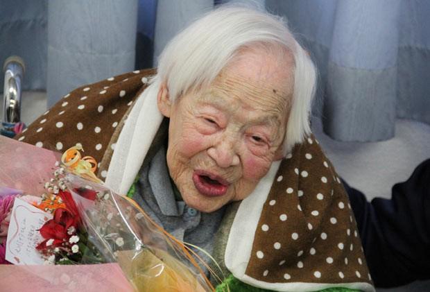 A japonesa Misao Okawa (Foto: AFP)