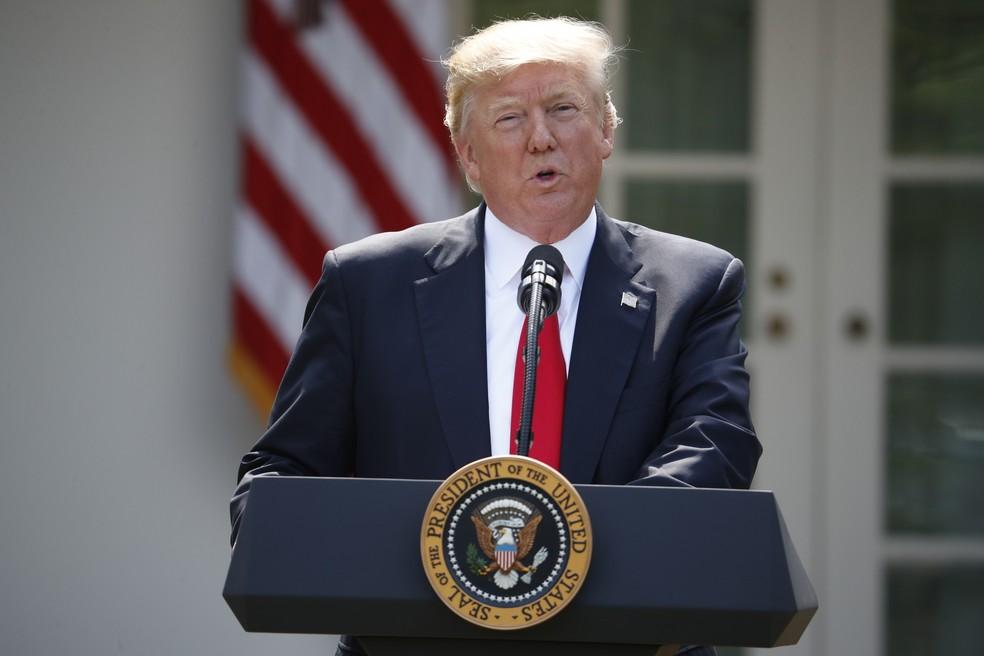 Trump anuncia saída dos EUA do Acordo de Paris sobre mudanças climáticas (Foto: AP Photo/Pablo Martinez Monsivais)