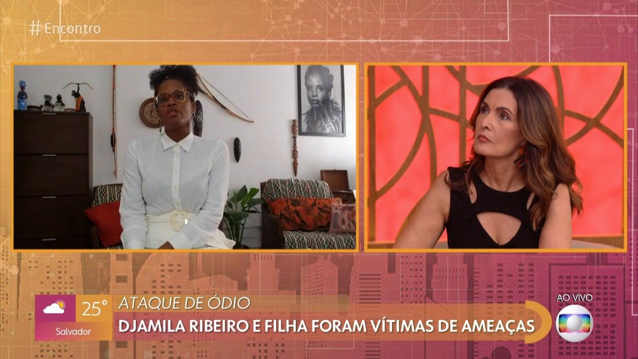 Djamila Ribeiro e a filha foram alvo de ameaças