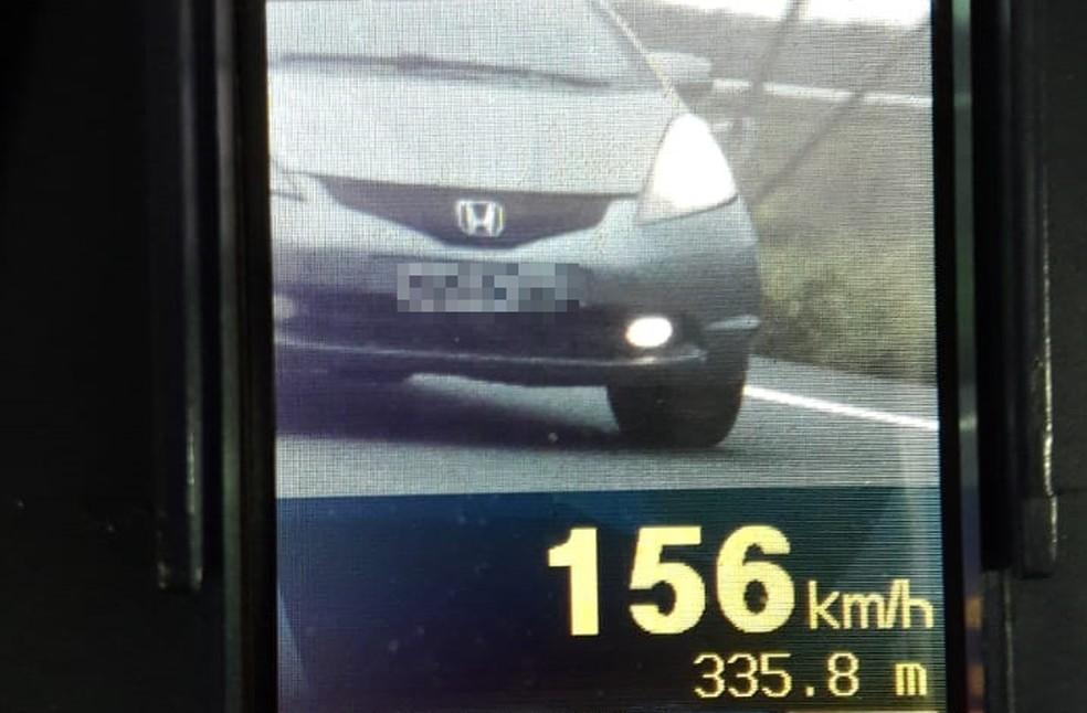 Polícia Rodoviária flagra 118 veículos com excesso de velocidade no Campo de Peris — Foto: Divulgação/Polícia Rodoviária Federal
