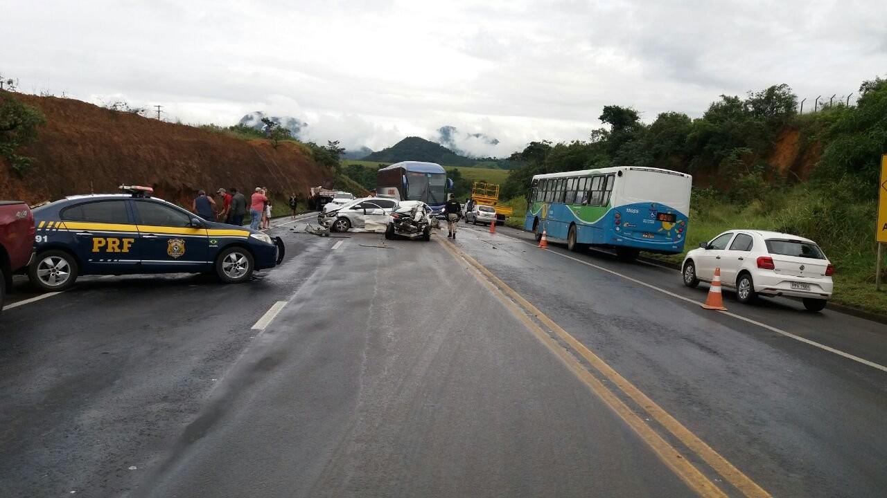 Cai o número de acidentes e mortes em rodovias federais no ES