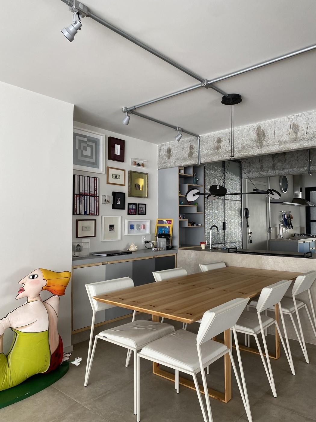 Por dentro do apartamento industrial de Bruno Fagundes em São Paulo (Foto: Arquivo Pessoal)