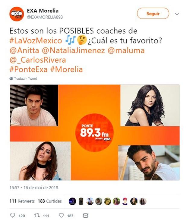 Rádios mexicanas dizem que Anitta será jurada do The Voice México (Foto: Reprodução)