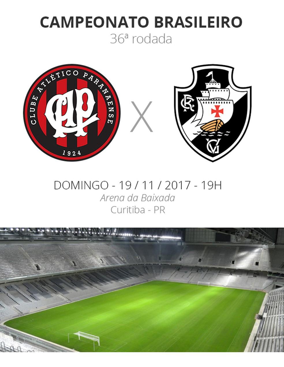 Arena da Baixada recebe Atlético-PR e Vasco neste domingo (Foto: Infoesporte)