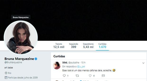 Bruna Marquezine curte post que critica look de Neymar  (Foto: Reprodução)