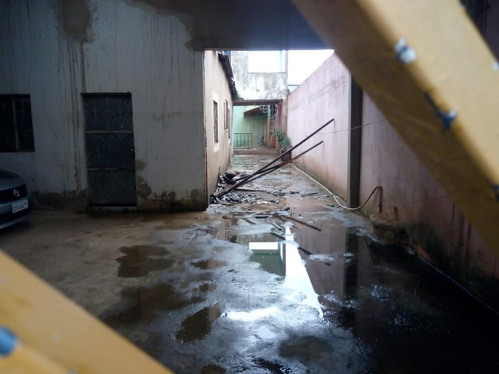 Chuva causou estragos a moradores de Porto Velho na tarde desta quinta-feira (3). — Foto: Arquivo
