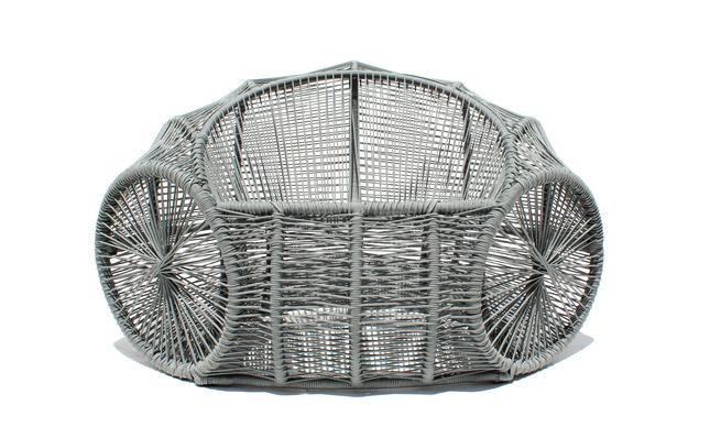 Poltrona Caçuá,  inspirada no cesto de mesmo nome