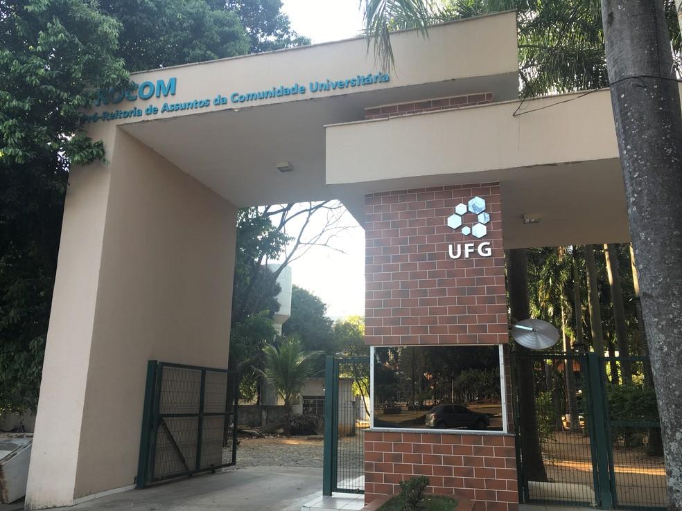 Universidade Federal de Goiás - UFG no Setor Leste Universitário em Goiânia — Foto: Vanessa Chaves/G1