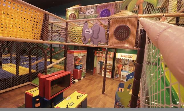 Área para crianças no Coco Bambu