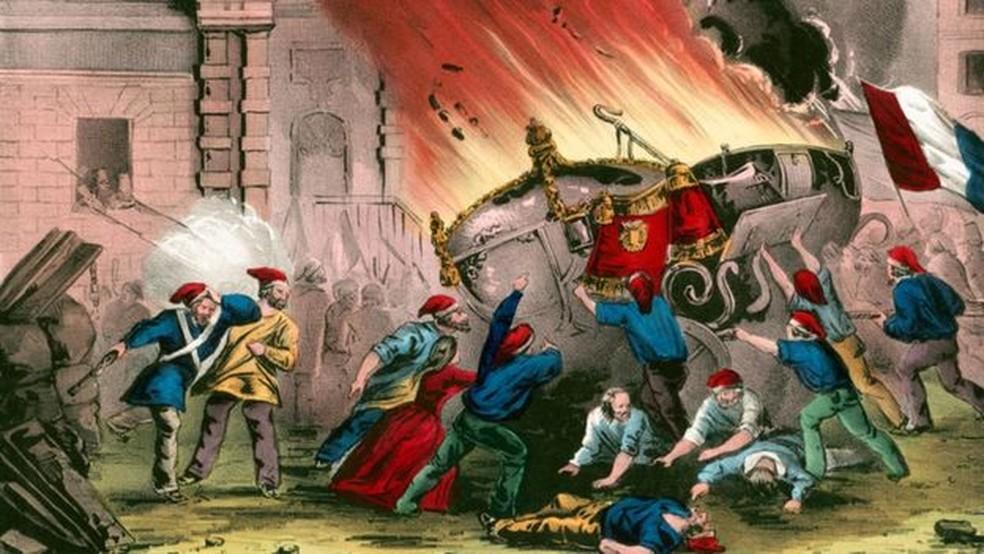Durante a Revolução Francesa tentou-se modificar o calendário moderno — Foto: Getty Images/BBC