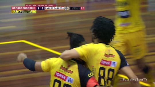 Jaraguá bate o Carlos Barbosa na prorrogação e leva a Copa Três Coroas de Futsal