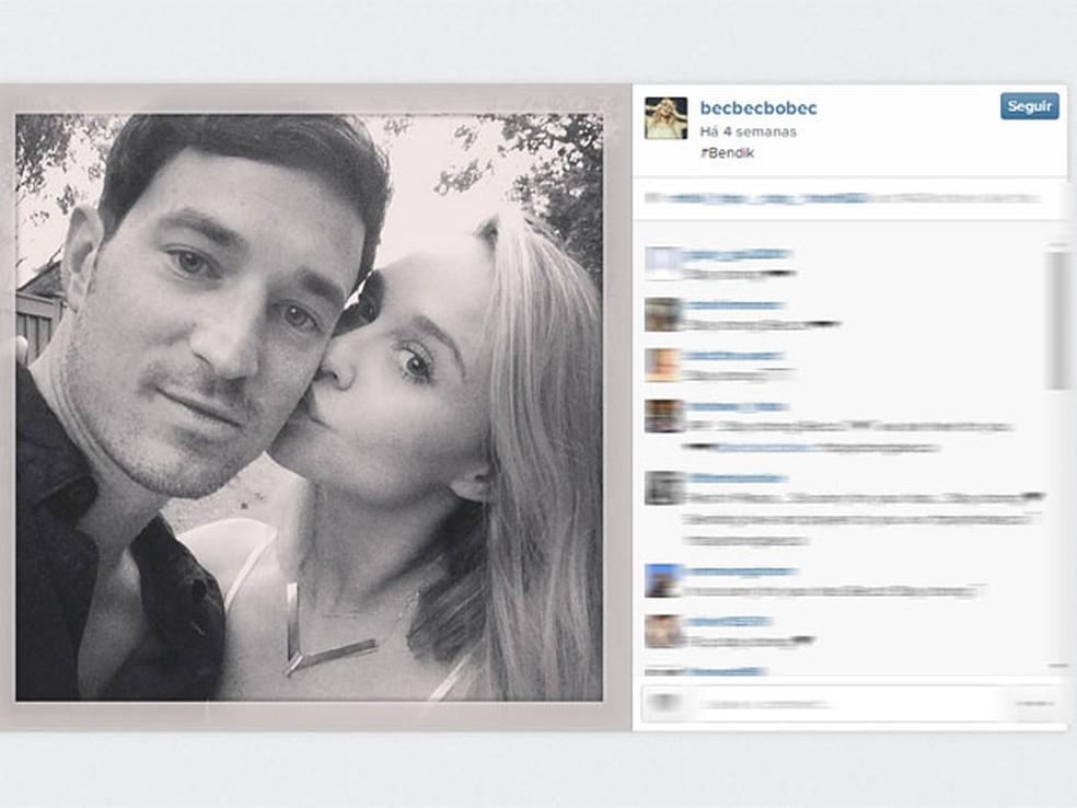 Foto publicada em 13 de junho no Instagram da atriz de 'Glee' Becca Tobin, ao lado do namorado Matt Bendik, encontrado morto em hotel em Filadélfia — Foto: Reprodução/Instagram/becbecbobec