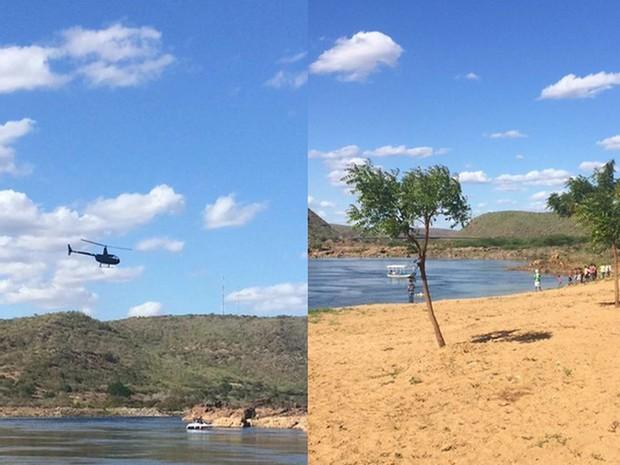 Buscas estão sendo realizadas por equipes de Sergipe (Foto: Dênison Paiva)