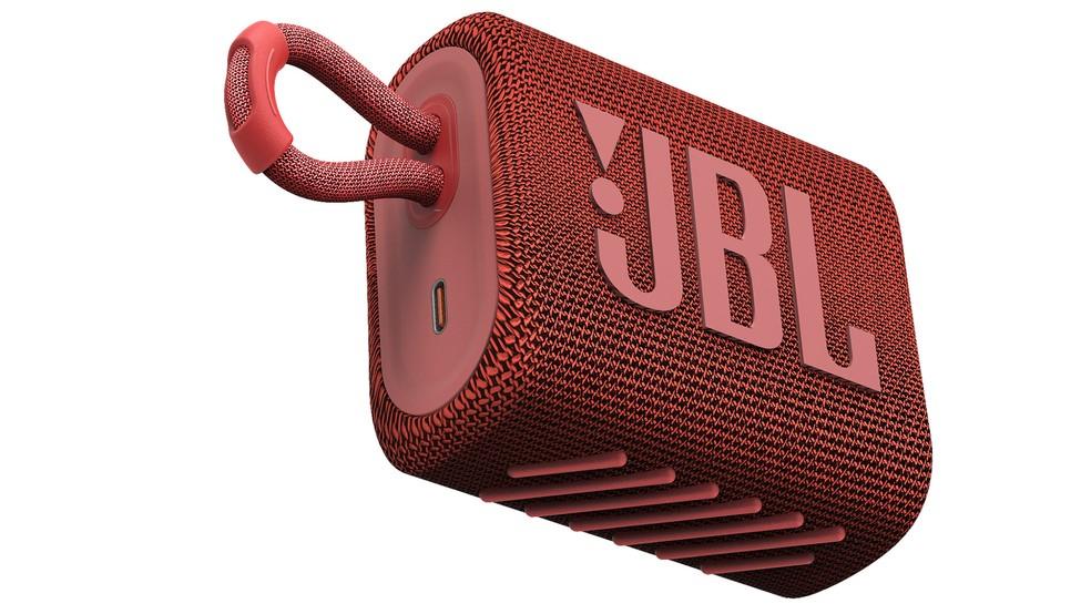 JBL Go 3 tem sido opção para quem procura caixa de som compacta — Foto: Divulgação/JBL
