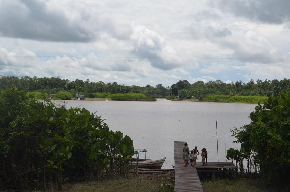 Foz do rio Mazagão foi o local onde aconteceram os atendimentos — Foto: John Pacheco/G1